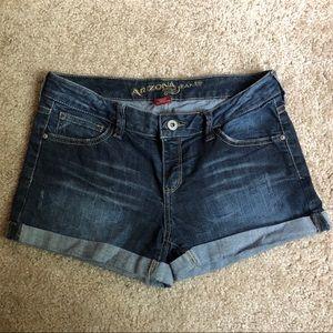 Dark Wash Rolled Hem Arizona Jean Shorts Size 5